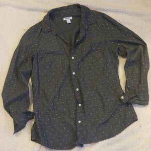 Old Navy polka dot button up shirt